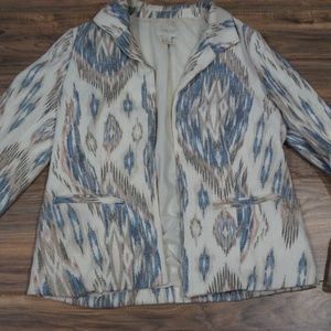 EUC Chicos sz 0 or M aztec print blazer